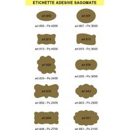 ETICHETTE ADESIVE SAGOMATE